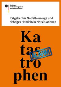 Titelseite des Ratgebers für Katastrophen