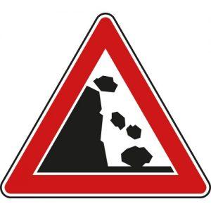 Vorsicht Steinschlag!
