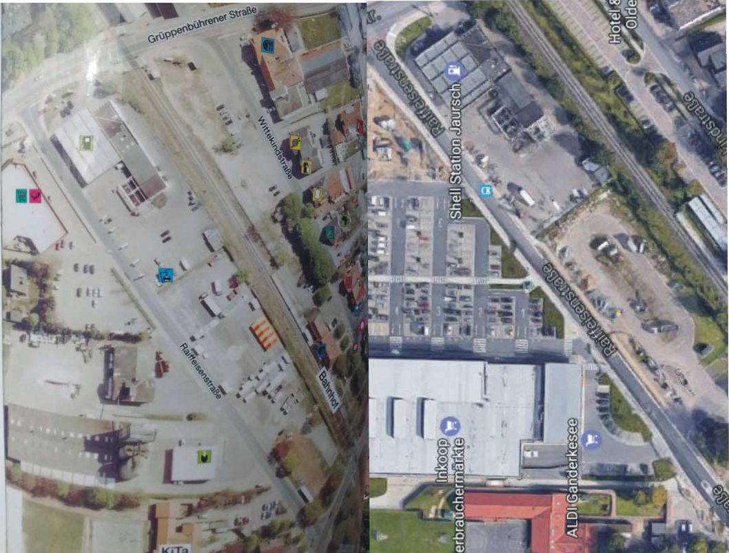 Linkes Bild: die Genossenschaft. Rechtes Bild Aldi Inkoop.