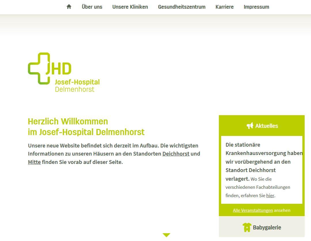 Josef - Hospital Homepage