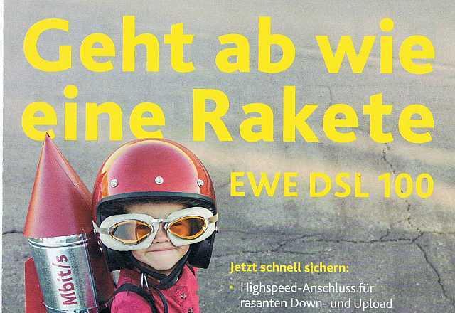 Werbung der EWE