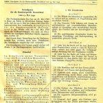 Bundesgesetzblatt von 1949 mit der Darstellung des Grundgesetzes