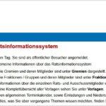 Screenshot Ratsinformationssystem